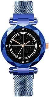Watch,Becoler Ladies Women Watches Magnetic Starry Sky Clock Diamond Female Quartz Wristwatche
