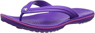 Crocs Men's and Women's Crocband Flip Flop | Casual and Sporty Sandal | Lightweight Beach and Shower Shoe