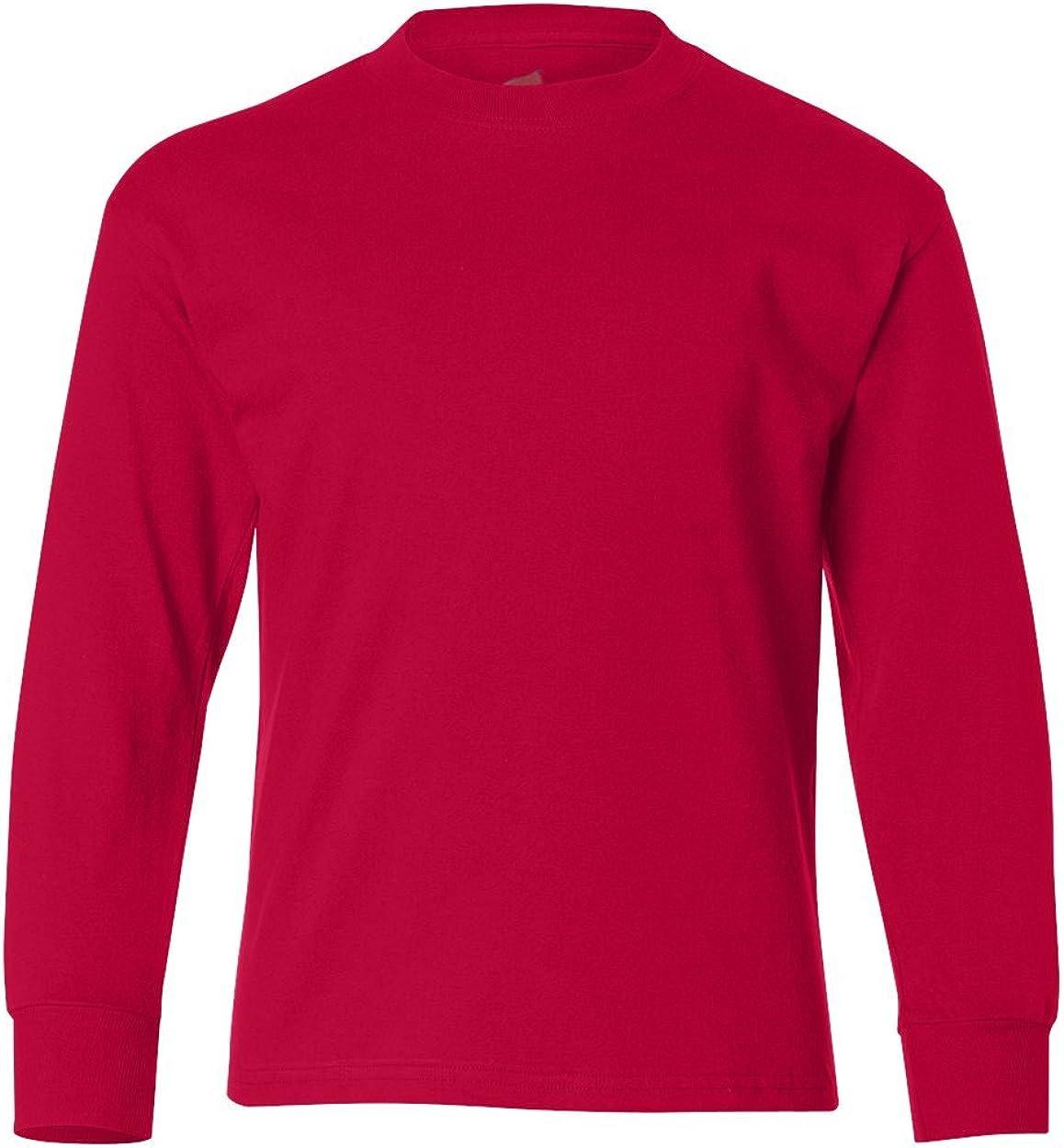 Hanes Youth Tagless 6.1oz. Long Sleeve T-Shirt