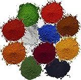 Pigmentpulver, Eisenoxid, 11 verschiedene Farbtöne je 100g (€ 2,53/100g)