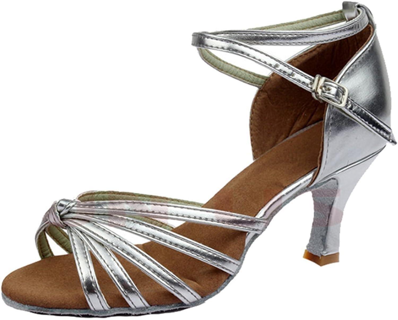 BININBOX Ladies Standard Ballroom Latin Tango Rumba Samba Dance shoes with Heels