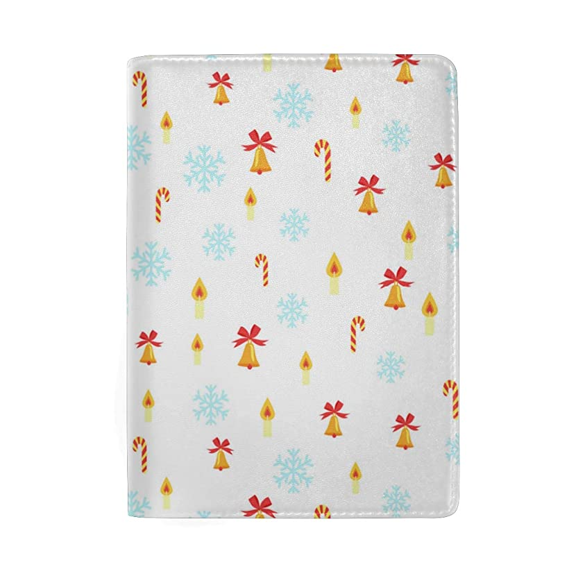 Christmas Tree White Snow Leather Passport Holder Cover Case Blocking Travel Wallet
