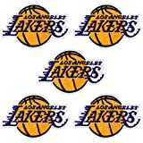 ANCIRS 5 Pack NBA Team Logo Decorative Patches, Embroidered Applique Iron On Sew On Basketball Logo Emblem for Men Jackets Jeans Handbag Shoes Caps(7.9x4.9cm)