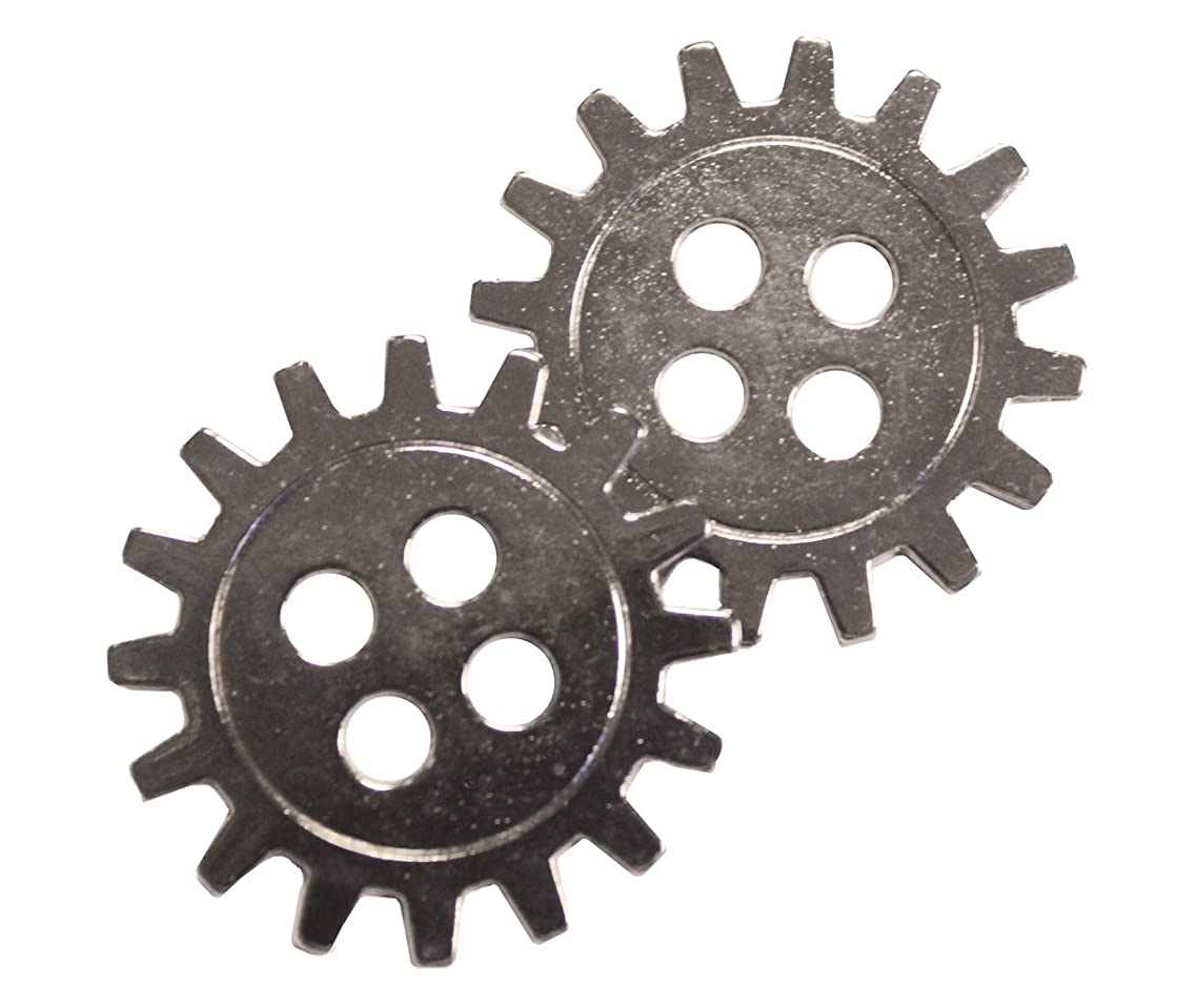 FabScraps Silver Embellishments, Large Cogs, 20-Pack