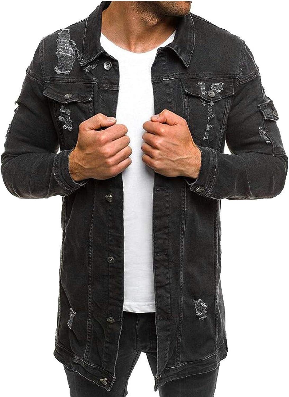 7954d2c8e468 Esast Men Men Men Retro Washed Ripped Hip Hop Motorcycle Denim Jackets Coat  e85eb7