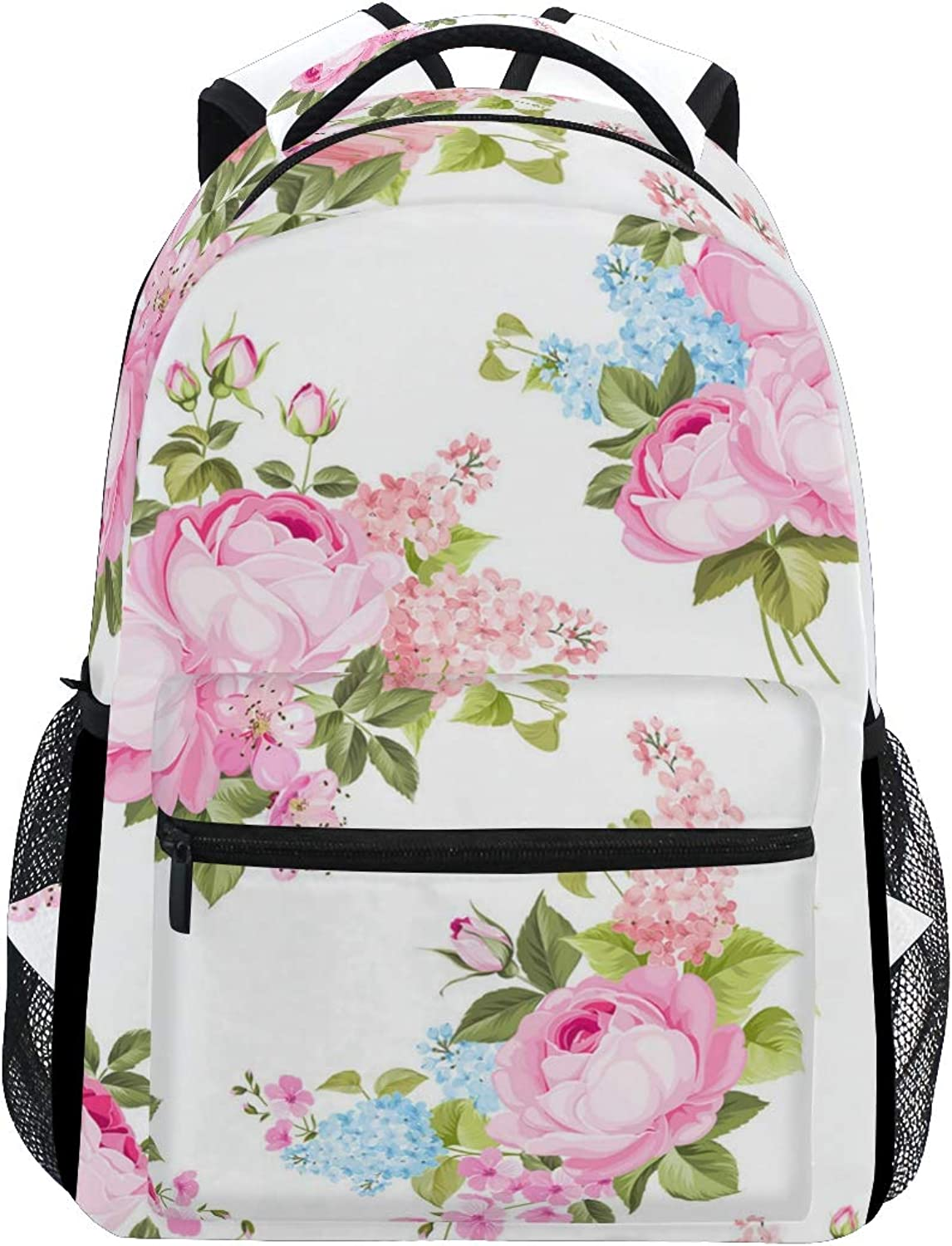 Pink Rings for Women Trekking Backpack Fashion Backpack Oversized Backpack Men and Women Durable Travel Computer Backpack 17 Inch Notebook Waterproof Large Business Bag