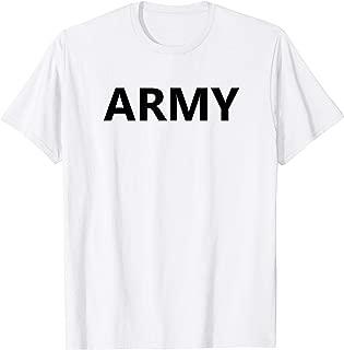 Army APFU APFT Logo Gym Workout PT Uniform Physical Training T-Shirt