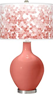 Coral Reef Mosaic Giclee OVO Table Lamp - Color + Plus