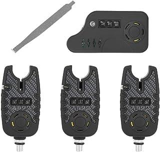 RiToEasysports Alarma de Pesca LED, indicador de Alarma de picadura de Pesca eléctrica ABS con Alerta de Sonido para Pesca...