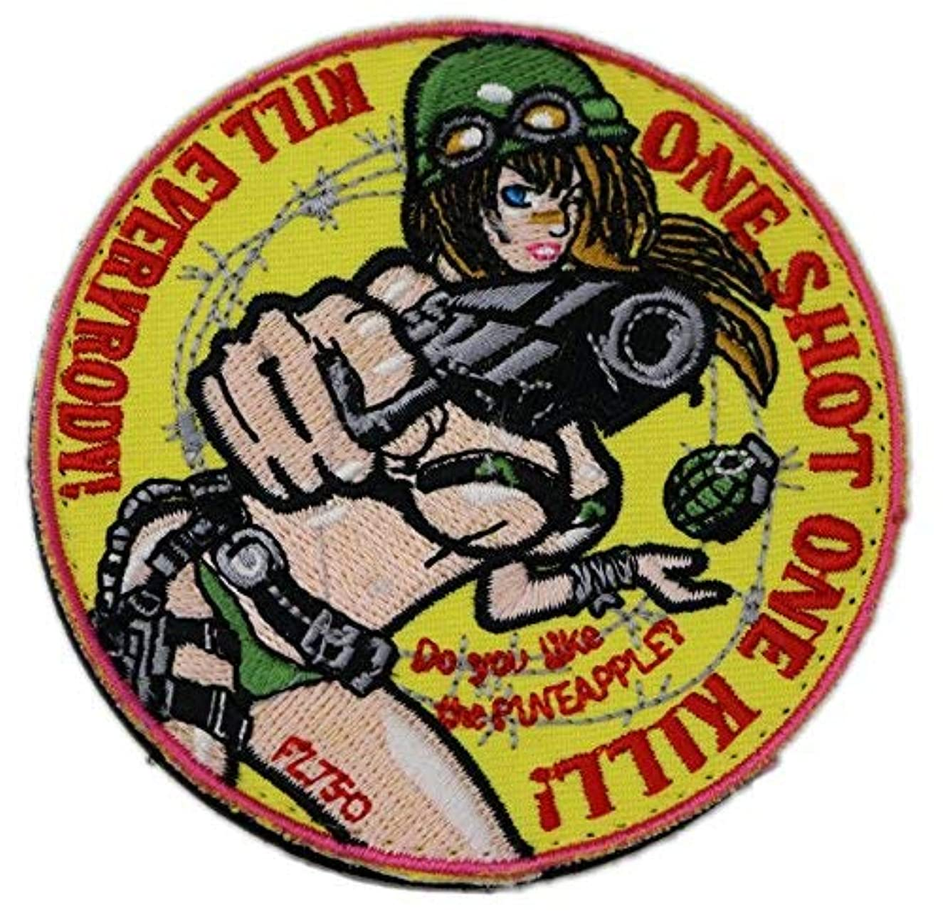 [Japan Import] 100% Embroidery Verclo Patches Weapon Girl A0035 (Type2)