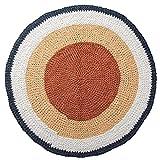 Sebra Alfombra de Crochet Alfombra Infantil de algodón Redonda de 120 cm de diámetro en melocotón/Vainilla