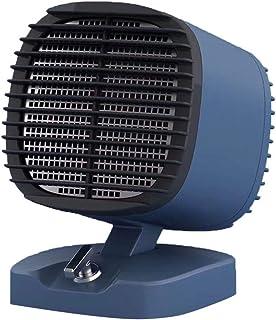 HM&DX Portátil Cerámica Calefactor de Espacio,Calefactor eléctrico con 2 Ajustes de Calor Protección sobrecalentamiento 400 600w Bajo Consumo Calefactor Ventilador para Inicio Oficina -Azul