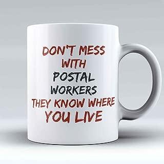 Postal Worker Coffee Mug - Postman Coffee Cup - Funny Mailman Gifts -