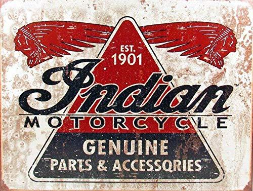 niet Indiase Motorfiets Onderdelen Tin Muur Teken Metaal Retro Poster Iron Waarschuwingsborden Vintage Opknoping Art Plaque Yard Garden Cafe Bar Pub Openbaar Gift 8X12 Inch