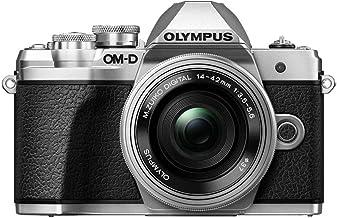 Olympus OM-D E-M10 Mark III Mirrorless Micro Four Thirds Digital Camera with 14-42mm EZ Lens & 16GB SDHC Card (Black) (Sil...