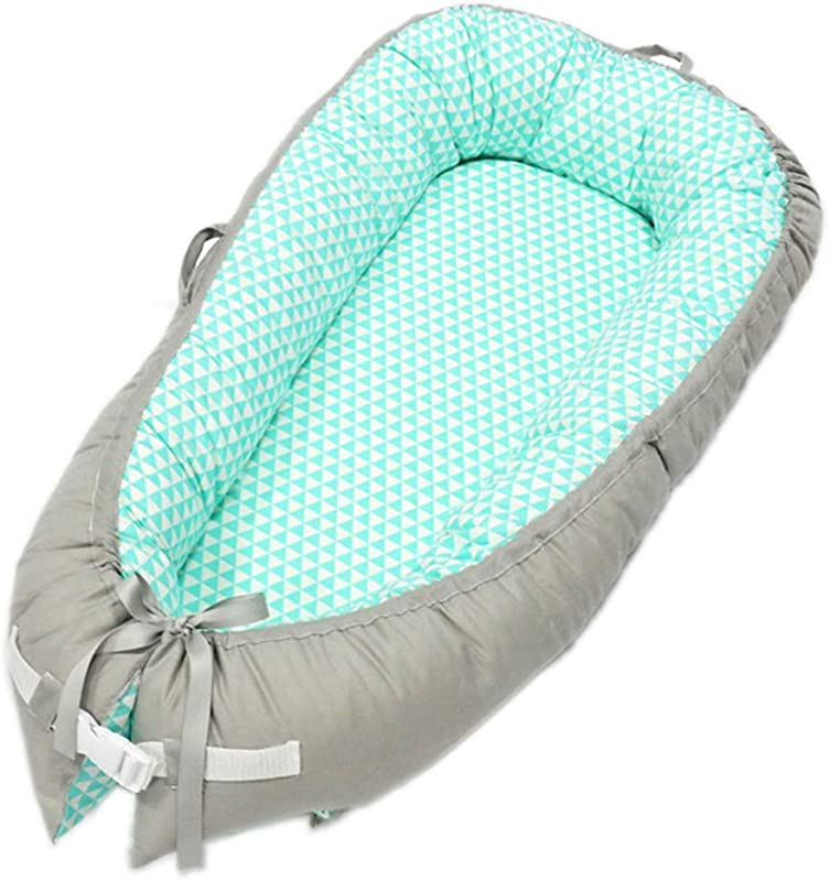 Baby Lounger Portable Super Soft Removable Baby Nest Bed Sleeper Soft Cotton Crib Breathable Bassinet Travel Cot TA 11