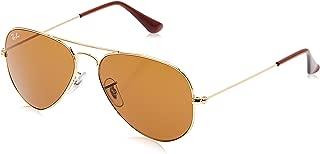 RB3025 Aviator Sunglasses, Gold/Brown, 55 mm