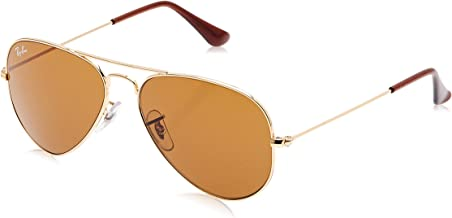 Ray-Ban RB3025 Aviator Sunglasses, Gold/Brown, 55 mm