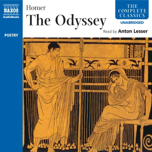 The Odyssey                   By:                                                                                                                                 Homer,                                                                                        Ian Johnston - translator                               Narrated by:                                                                                                                                 Anton Lesser                      Length: 12 hrs and 45 mins     3 ratings     Overall 4.7