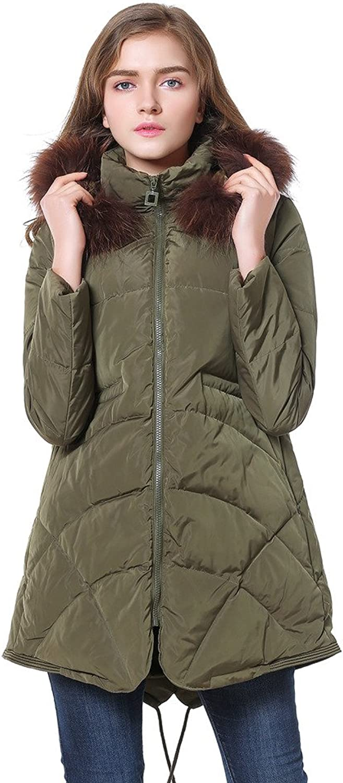 Eyekepper Cicel Girl Womens Down Jacket Hooded Overcoat Winter Coat