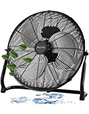 Vloerventilator, diameter 46 cm, 102 m³/min luchtverplaatsing, 1.350 tpm, 3 snelheden, power windmachine, luchtkoeler, staande ventilator, kamerkoeler, staande ventilator