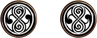 Chaoticfashion Doctor Who Cuff Links 16mm Time Lord Symbol Jewelry Gift Charm