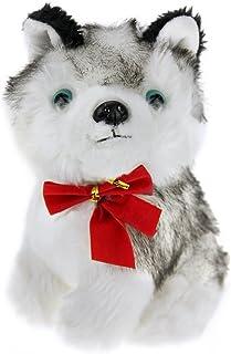 Baby Plush Puppets Toy Cute Huskie Dog Floppy Stufffed Animal Toy Pre-kindergarten Palying Figure Toy for Kids/Children, B...