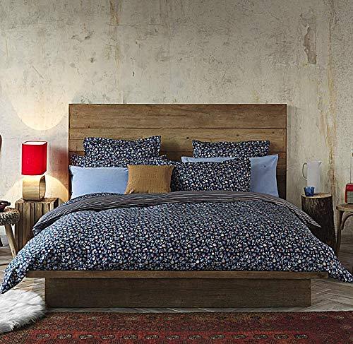 Tommy Hilfiger - Juego de sábanas para cama de matrimonio de 2 plazas, de raso satinado, sábana encimera + 2 fundas de almohada (no incluye sábana bajera)