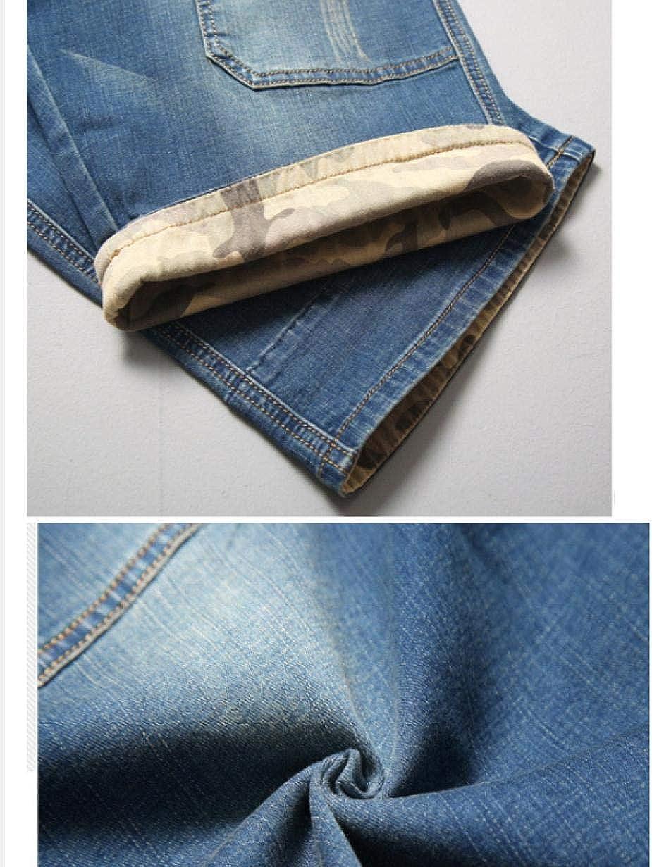 YOYVV Shorts d'été au Genou Jeans décontractés en Denim pour Hommes, Plus Grande Taille 28-40 42 44 46 48 Blue
