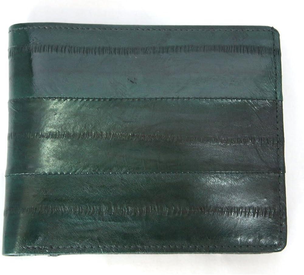 Genuine Eel Skin Leather Billfold Wallet Coin Purse Credit Card Holder