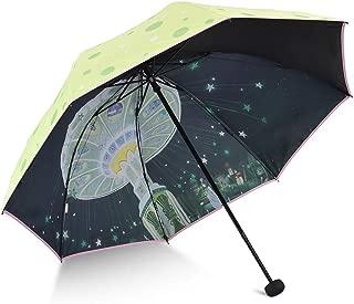 Sun Protection UV Ladies Umbrellas Umbrella Umbrellas Portable Folding Umbrellas HYBKY (Color : Green)
