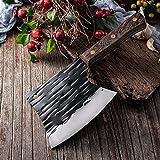 Cuchillo de cocina Cuchillo de deshuesado Cuchilla de carne Cuchillo forjado a mano Cuchillo de hacha de acero inoxidable espesado (Color : M117)