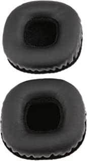 1 Pair Black Replacement Cushion Earpads for Marshall Mid Bluetooth On-Ear Headphones