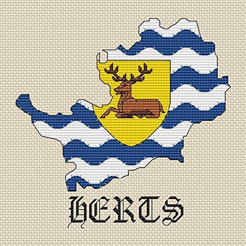 Hertfordshire Map und Flagge Set von Elite Designs