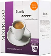 Mixpresso Coffee Espresso Capsules Compatible With Nespresso Original Brewers Single Cup Coffee Pods| 100% from Italy Ristretto | Intense Roast Espresso, 50 count