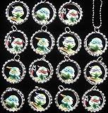 15 NEW - TEENAGE MUTANT NINJA TURTLE Flat Bottle Cap Necklaces for Birthday
