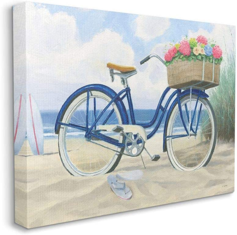 Stupell Industries Bike Phoenix Mall with Our shop most popular Flower Blue Basket P Nautical Beach