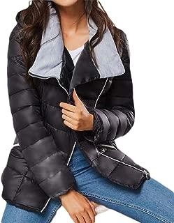 Womens Lapel Hooded Lapel Hooded Zipper Coats Long Sleeve Down Outwear Overcoats Cardigan