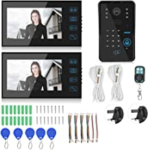 Night Looking Intercom 7in Video Doorbell, Doorbell, Public Buildings Offices Hotels for Apartments(British regulatory)
