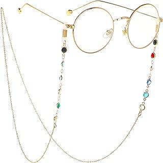 ZTie Eyeglass Chains Holder Women Gift Reading Glasses Cords Strap Beaded Sunglass Chain Anti Slip Lanyards Eyewear Retainer