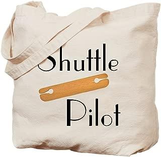 CafePress Shuttle Pilot Natural Canvas Tote Bag, Reusable Shopping Bag