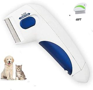 YOHAPPY Peine para pulgas de Perro, Cepillo eléctrico, Peine para Eliminar piojos, pulgas y garrapatas, Herramienta para Perros y Gatos