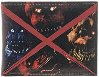 Five NIghts At Freddy's Evil Faces Bi-Fold Wallet w/Gift Box by Superheroes Brand