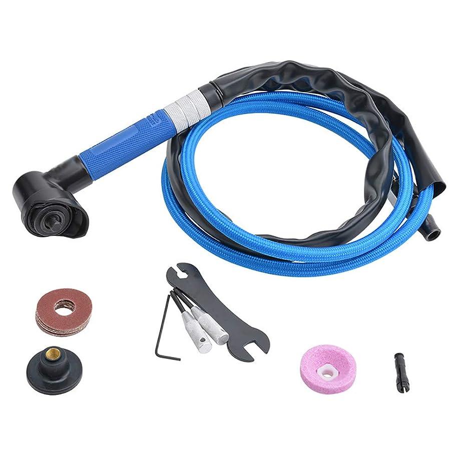 戦う楽しませるハム空気圧研削盤研磨工具研磨機/サンドペーパー研磨機清掃、自動車メンテナンス、錆取り、ばり,Blue