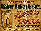 Ahdyr Metall Zinn Zeichen Walter Baker Kakao Pub Outdoor