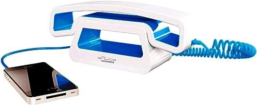 SwissVoice(スイスボイス) イーピュア CH01 モバイル シンプル コード付きハンドセット コンパクト 正規輸入品 日本語説明書付き ブルー
