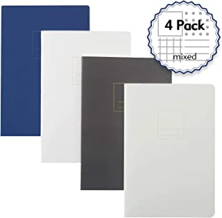 Composition Notebook Dotted/Blank/Lined/Grid Set-4 Unique Designed, A5 Size 8.2 x 5.8 inch,100gsm Paper,160 Sheets/320Pages (Multi-color, 4 Pack)
