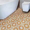 Moroccan Mosaic & Tile House CTP54-02 Alhambra Handmade Cement Tile, 8''X8'', Orange,White,Gray,12