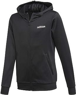 adidas Performance Cardio - Chaqueta con capucha para niño, color negro, 140