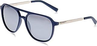 نظارة شمسية للرجال باطار افياتور من نوتيكا مع شعار مطبوع بتقنية ليزرية، بلون كوبالت